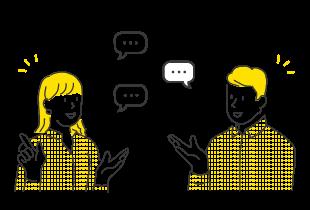 スムーズに行えるコミュニケーション